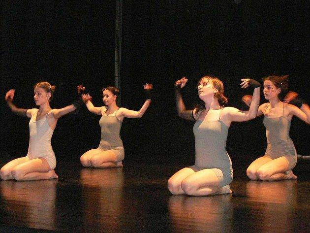 Na přehlídce se představili také účinkující z Dobrušky s téměř šestiminutovou skladbou nazvanou Sólo pro tanec aneb proměna kukly v motýla.