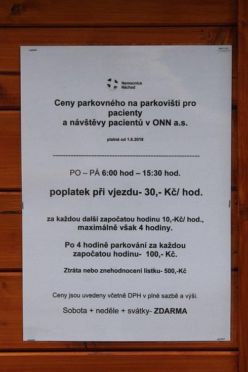 KOLIK STOJÍ PARKOVNÉ? Provozní doba parkoviště je v pracovních dnech od 6 do 15.30. Sobota, neděle a státní svátky jsou zdarma. Při vjezdu zaplatíte 30 korun za hodinu, za každou další započatou pak 10 korun, maximálně však čtyři hodiny. Po čtvrté hodině