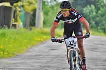 ČERVENOKOSTELECKÝ cyklista Michal Kaněra zajel druhý absolutně nejrychlejší čas cyklistické části.