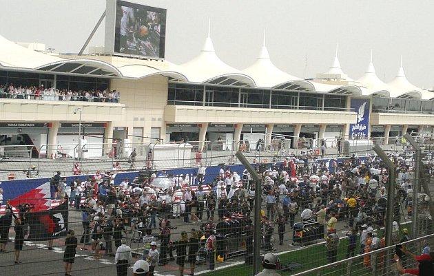Závody Formule 1vBahrajnu.