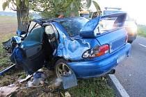 Nehoda řidičky.