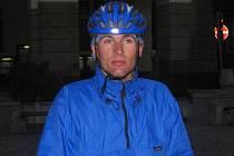 Cyklocestovatel Martin Adámek.
