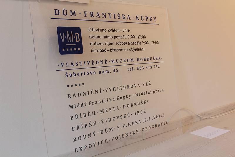 Dům Františka Kupky v Dobrušce v novém.