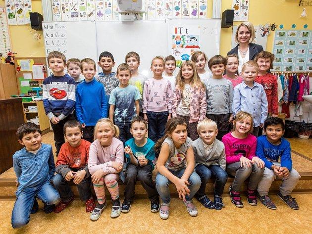 Žáci 1.třídy ze ZŠ Masarykova vRychnově nad Kněžnou.