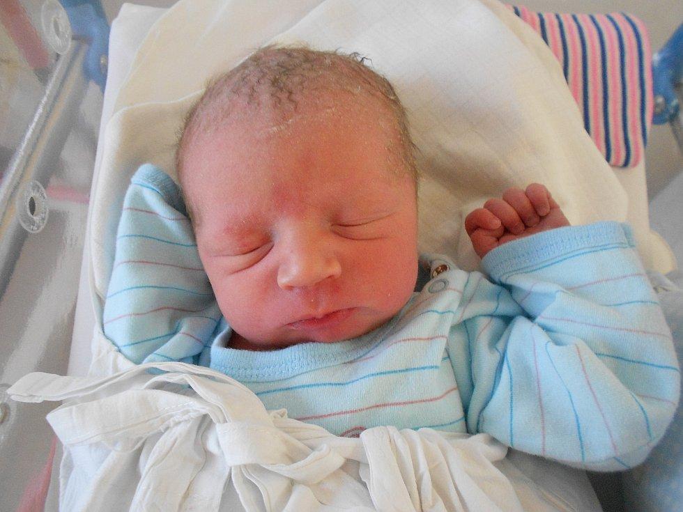 DAVID ČERVENÝ se narodil 8. září ve 21.48 hodin. Měřil 51 cm a vážil 3750 g. Radost udělal svým rodičům Nikole a Josefovi z Vamberka a bráškům Martínkovi a Alexovi. Tatínek byl u porodu.