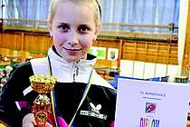 ZLATO A BRONZ získala Lucie Bačinová (na snímku) v kategorii nejmladšího žactva.