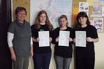 Studenti s certifikáty.