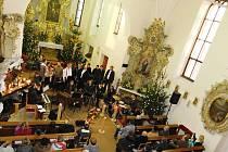 Koncert Štěpánských koledníků v kostele sv. Prokopa v Přepychách.