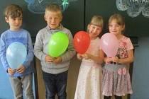 Žáci 1. třídy ze Základní školy a mateřské školy Bolehošť.