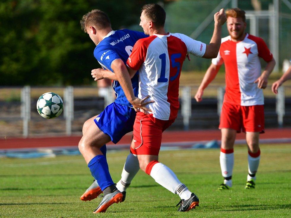 Fotbalový Pohár hejtmana Královéhradeckého kraje: SK Týniště nad Orlicí - FC Slavia Hradec Králové.
