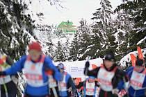 Orlický maraton 2016. V sobotu se jel půlmaraton volnou technikou za krásného počasí.