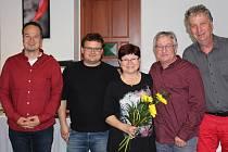 Jan Grulich, Oldřich Bittner, Jaroslava Blažková a Libor Koldinský. Foto: TOP 09 Rychnov nad Kněžnou