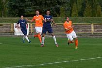 Z fotbalového zápasu Dobruška – Kostelec nad Orlicí