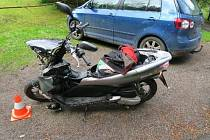 Nehoda opilého motorkáře