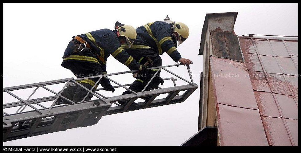Zásah hasičů na Náchodsku.