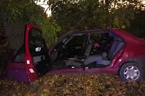 Auto skončilo ve stromě, pro zraněného vzlétl vrtulník.