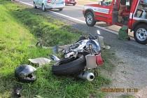 Vážná nehoda se stala v neděli odpoledne na silnici mezi obcemi Bilý Újezd a Přepychy na Rychnovsku