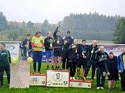 Stupně vítězů - prvenství se v Kounově radovalo družstvo Šedivin.