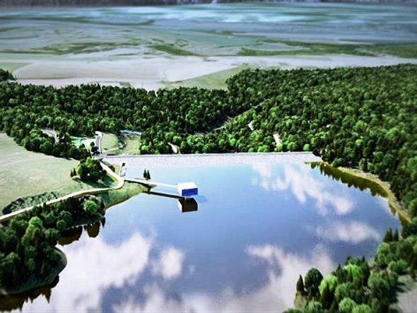 VIZUALIZACE pěčínské přehrady.