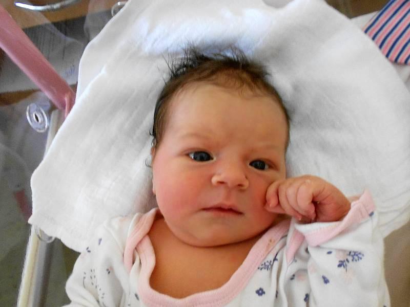 AMÁLKA FALTOVÁ se narodila 9. června v 17.35 hodin. Měřila 52 cm a vážila 3570 g. Nejvíce potěšila své rodiče Janu Vaněčkovou a Miloše Faltu z Hodkovic. Tatínek byl mamince u porodu velkou oporou a zvládl to perfektně.