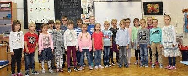 Žáci třídy 1.Aze Základní školy Vamberk.