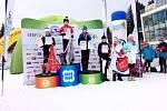 Adéla Michlová (třetí zprava) vybojovala na trati 2 kilometry klasicky čtvrté místo.