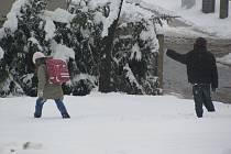Dětem sněhová kalamita příliš nevadila.