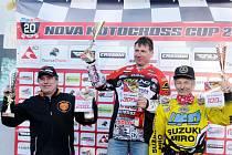 Nova motocross cup - stupně vítězů.