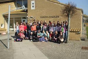 Studenti kosteleckém Obchodní akademie T.G.M. v Dánsku