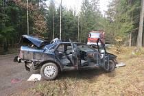 Řidička jedoucí od Jahodova vyletěla mimo silnici.