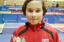 Dva poháry za první a druhé místo si přivezla z Havířova Vendula Šichanová.