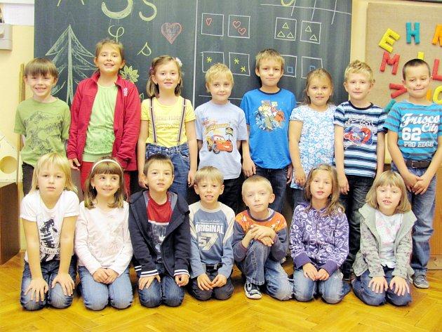 Školáci z 1. třídy Základní školy v Javornici