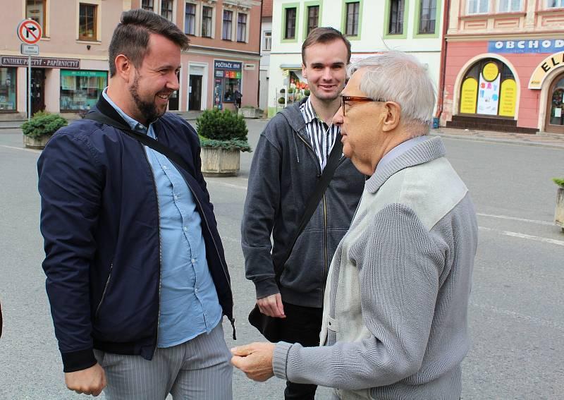 Miloň Čepelka a Patrik Ulrich, setkání v Dobrušce.