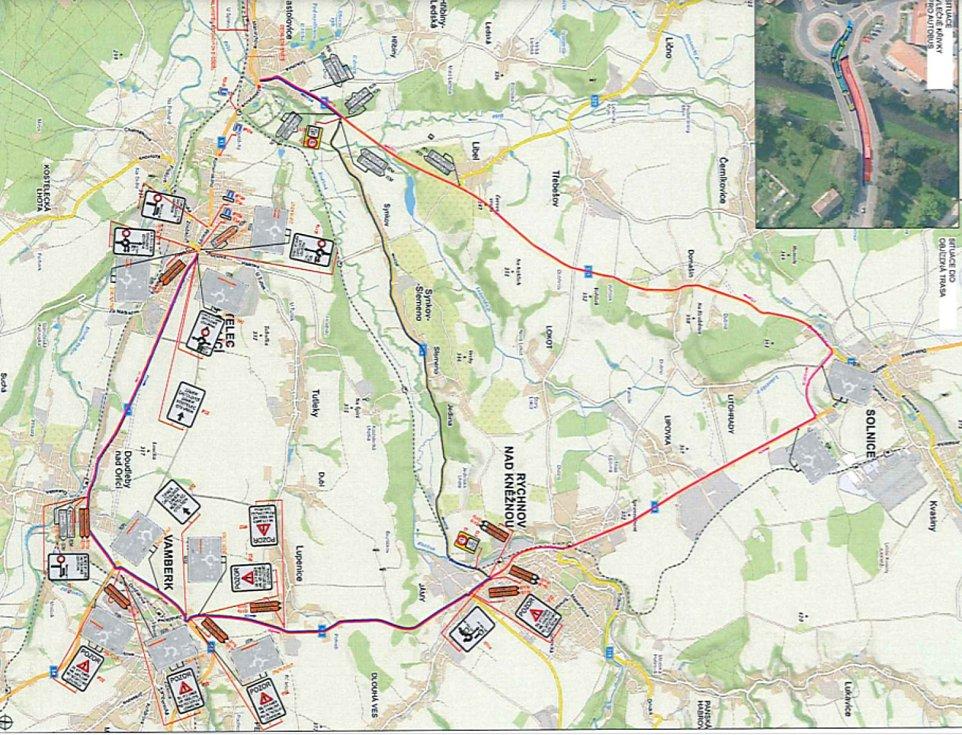 Kvůli rekonstrukci mostu v Častolovicích budou vytýčeny objízdné trasy.