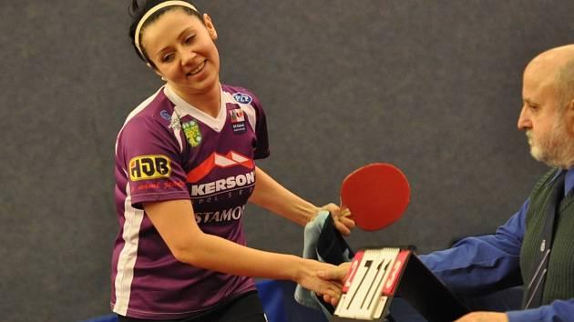 Důvod ke spokojenosti měla doberská hráčka Olesja Stachová (na snímku), která společně s Anetou Martínkovou a Danielou Rozínkovou postoupila do finále Českého poháru.