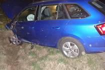 Nehoda tří aut v Lipovce.
