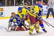 Z hokejového utkání Opočno - Semechnice