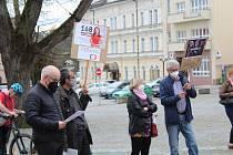 Demonstrace se uskutečnila na Starém náměstí. Foto: Deník/Jana Kotalová