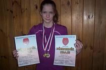 Dobrušská závodnice Kateřina Hlávková získala hned dvě zlaté medaile.