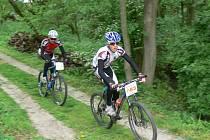 ŠEDESÁT BIKERŮ se vydalo na trať mělčanského závodu v lese Chlum.
