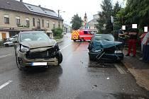 Dopravní nehoda dvou osobních automobilů ve Vamberku.