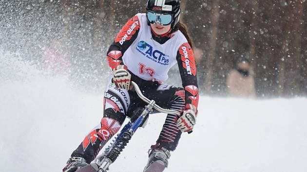 MISTROVSKÝ TITUL ve slalomu získala suverénním způsobem Stanislava Preclíková ze Skibob klubu Dobruška.