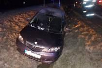 Vážná dopravní nehoda v Ještěticích.