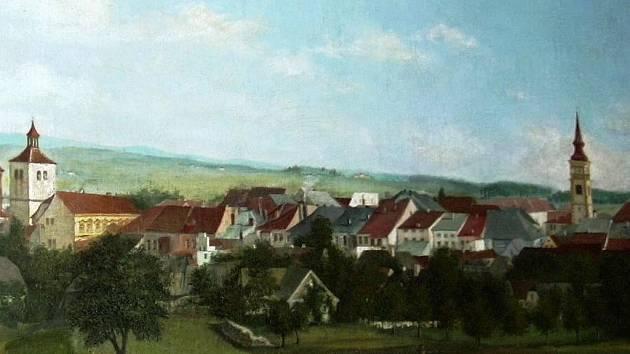 Panorama Dobrušky od Františka Kupky.