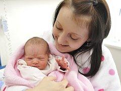 SOFIE MALÍKOVÁ spatřila svět v porodnici Orlickoústecké nemocnice 18. března. Rodiče Nikolu Jaurovou a Lukáše Malíka z Doudleb nad Orlicí potěšila hmotností 2,81 kg.
