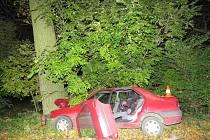 Tragédie na Rychnovsku. Řidič nepřežil náraz do stromu.