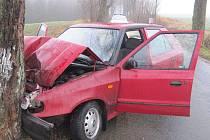 K dopravní nehodě došlo na silnici mezi Pěčínem a Slatinou nad Zdobnicí.