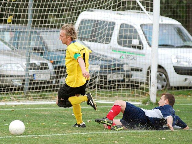 Z utkání Ohnišov – Albrechtice, které skončilo výhrou domácích 1:0.