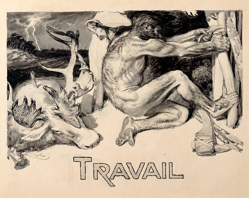 Pražská galerie Kodl vystavuje kresby Františka Kupky z počátku minulého století.