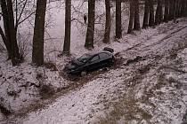 Místo dopravní nehody v Lupenici.